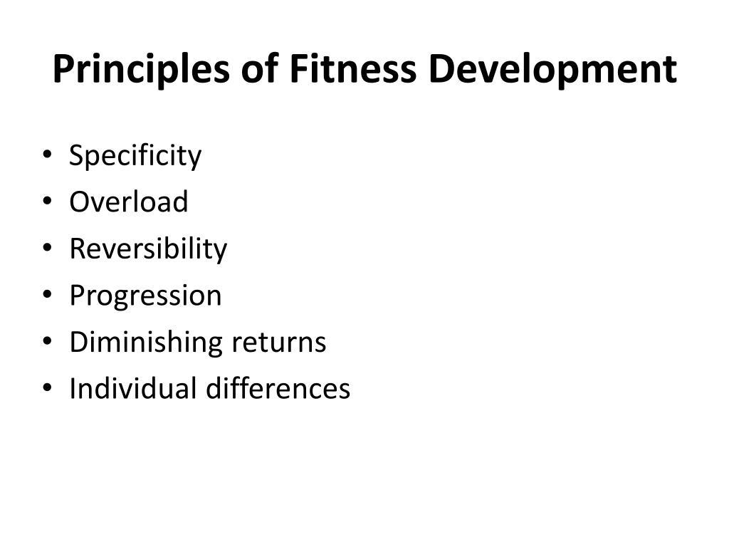 Principles of Fitness Development