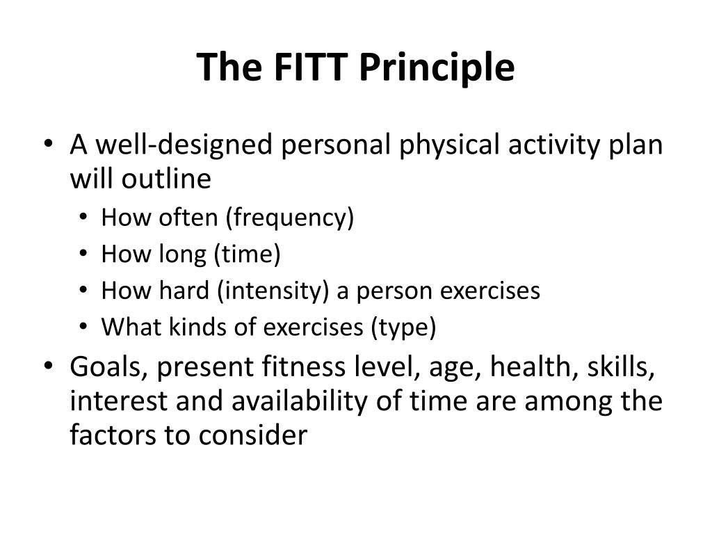 The FITT Principle