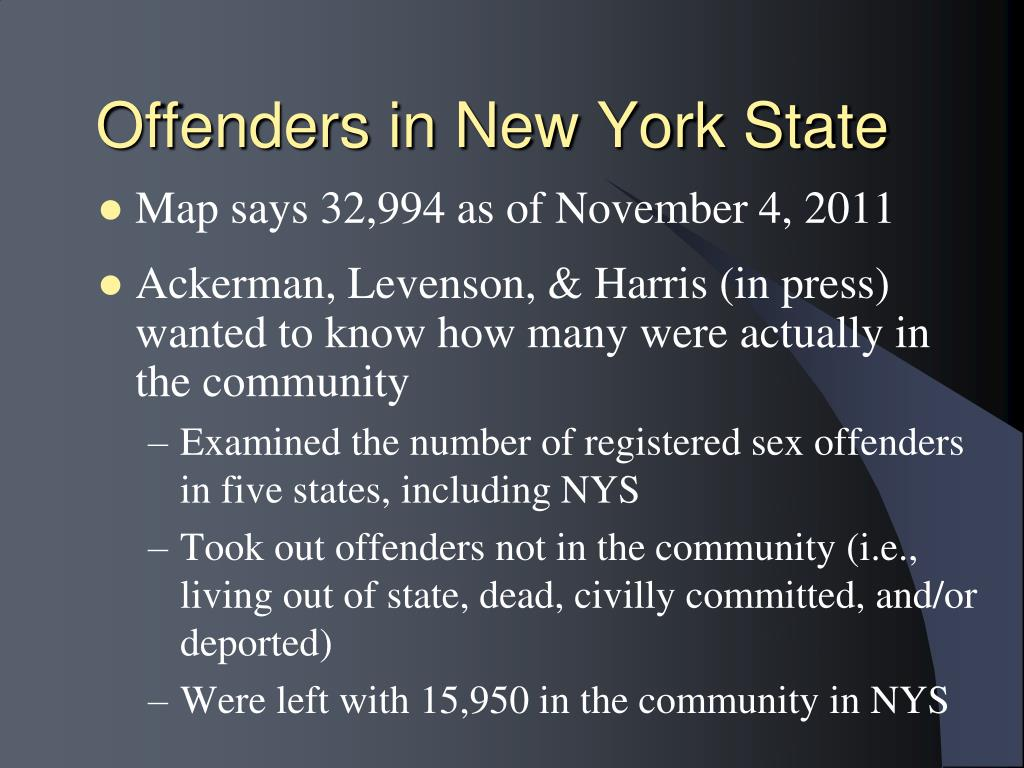 Offenders in New York State