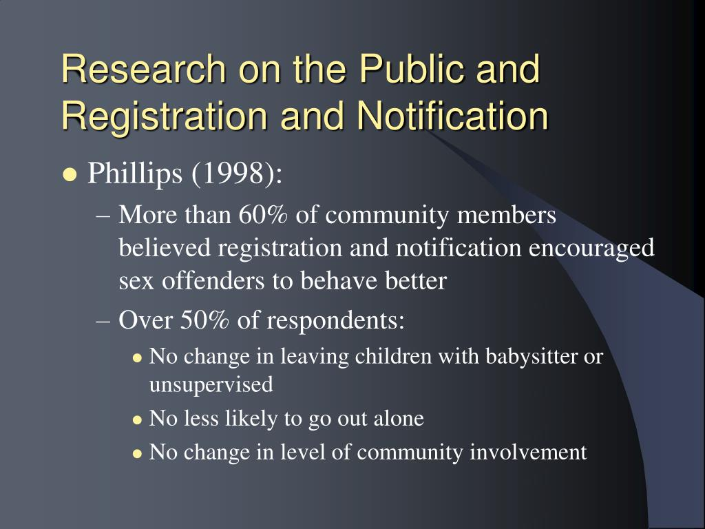 Research on the Public and Registration and Notification