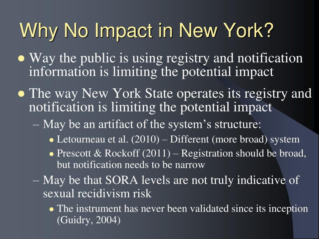 Why No Impact in New York?