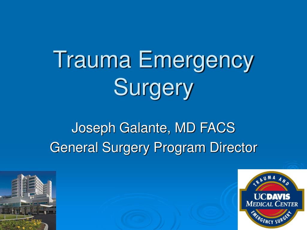 Trauma Emergency Surgery