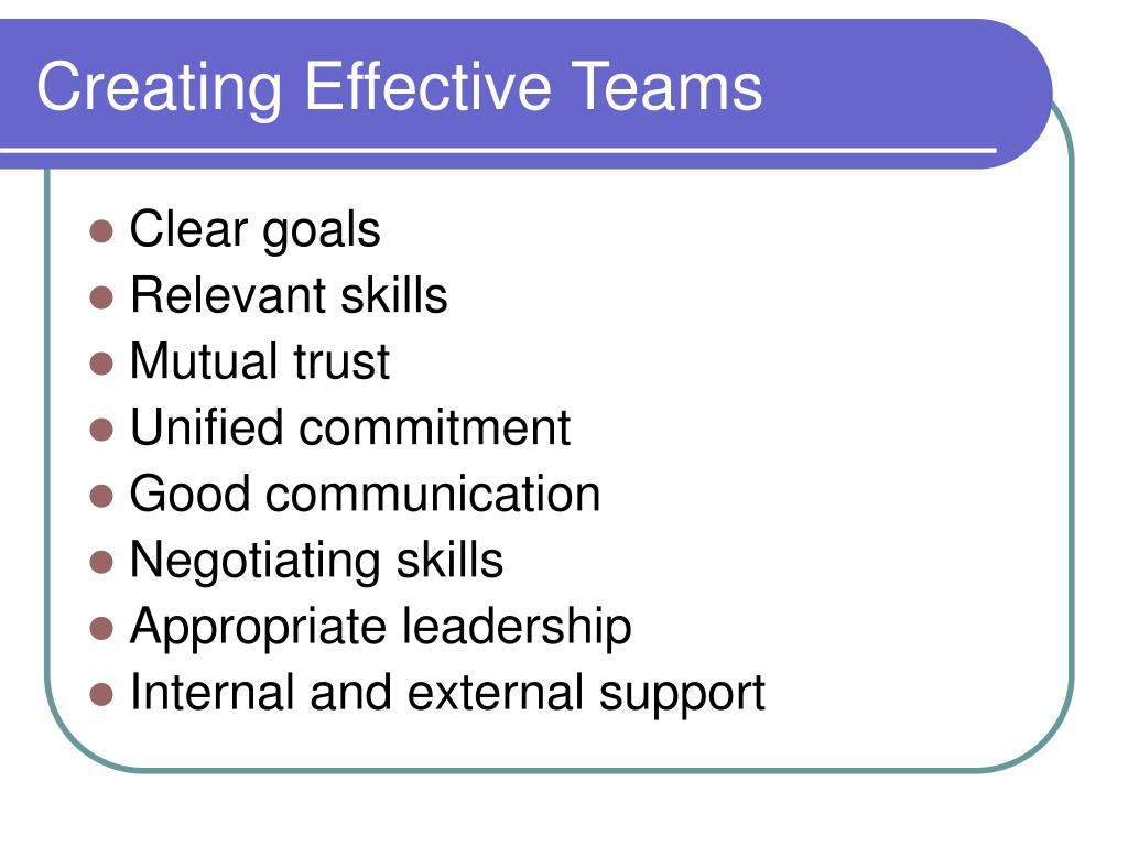 Creating Effective Teams