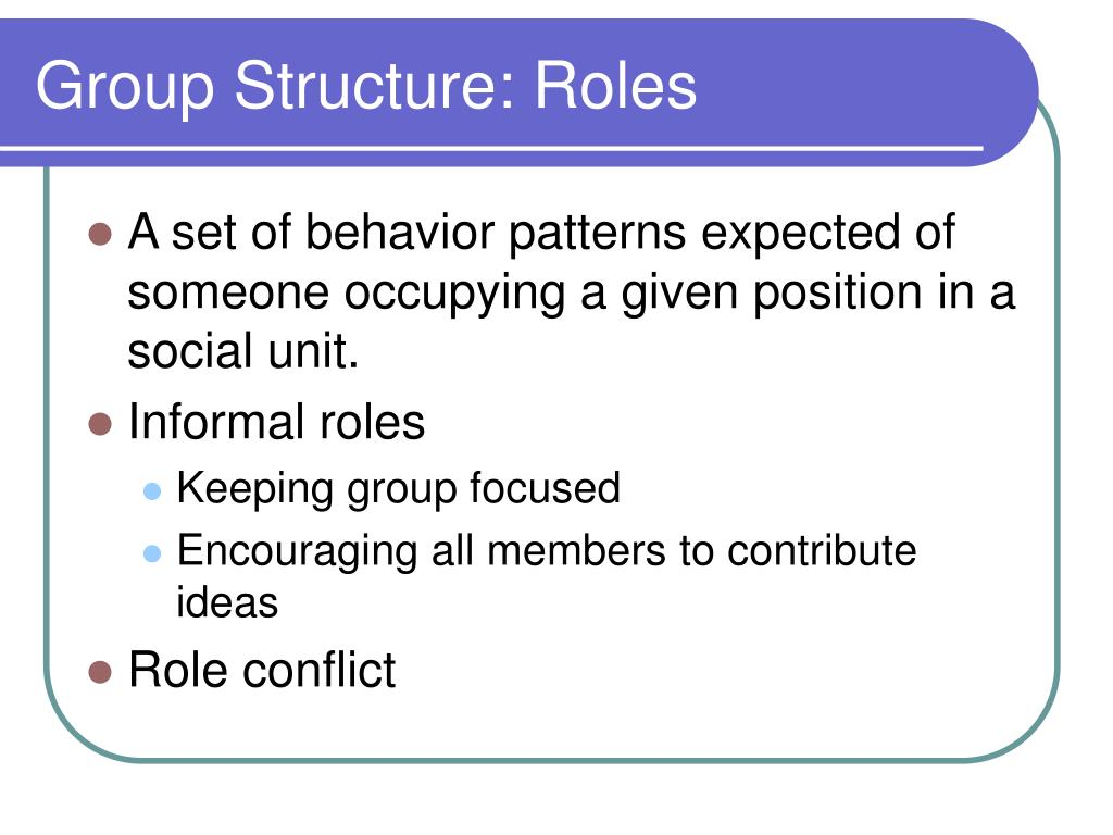 Group Structure: Roles