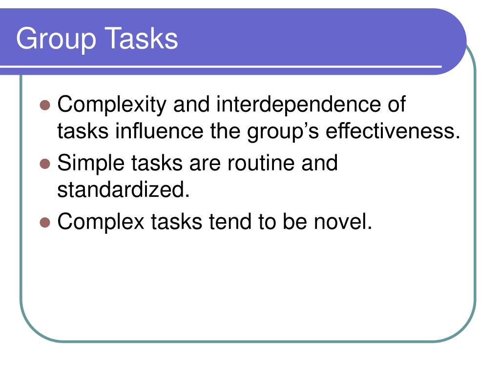 Group Tasks