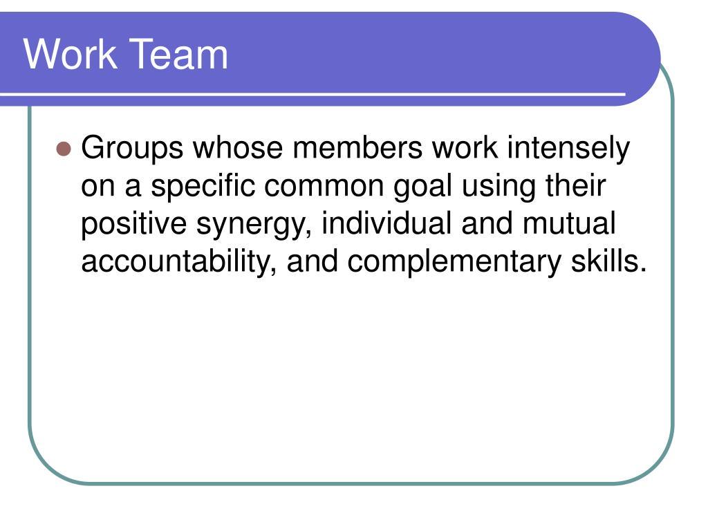 Work Team