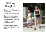walking thoughts