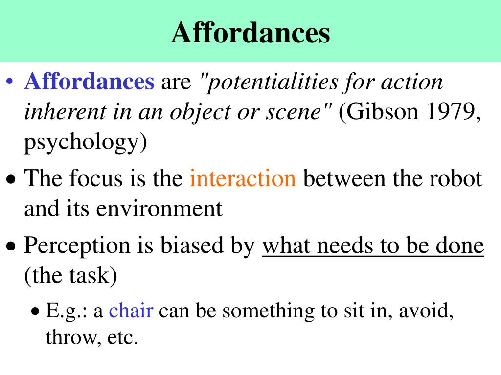 Affordances