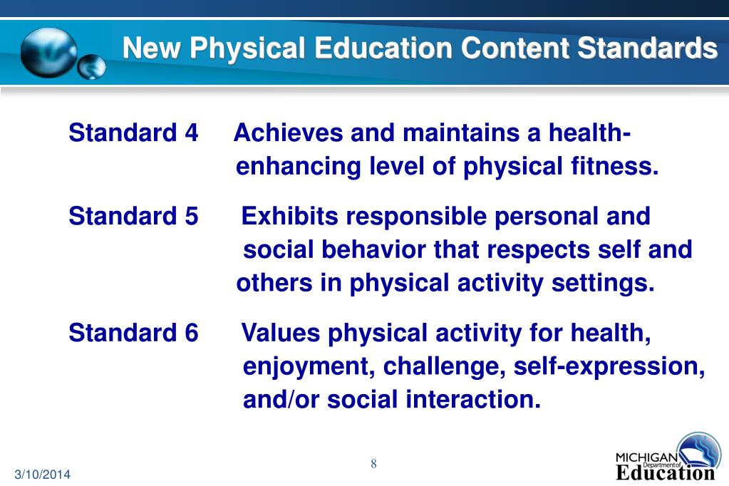 New Physical Education Content Standards