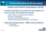 physical education glce documents