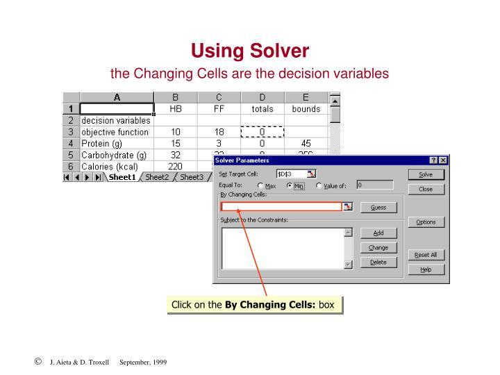 Using Solver