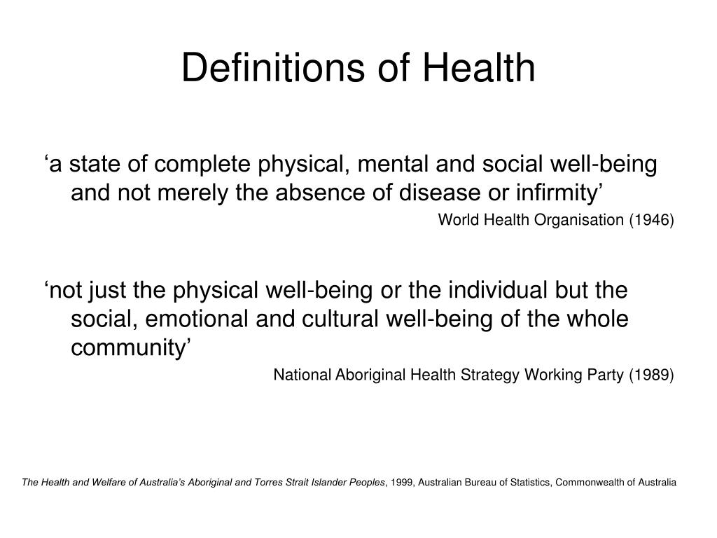 Definitions of Health