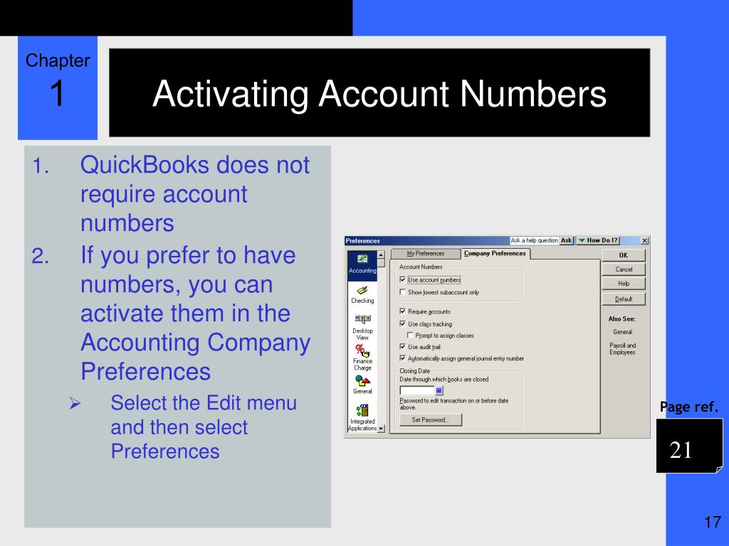 Activating Account Numbers