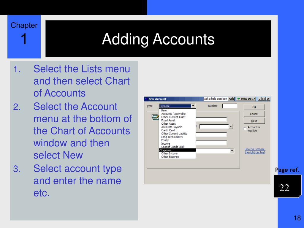 Adding Accounts