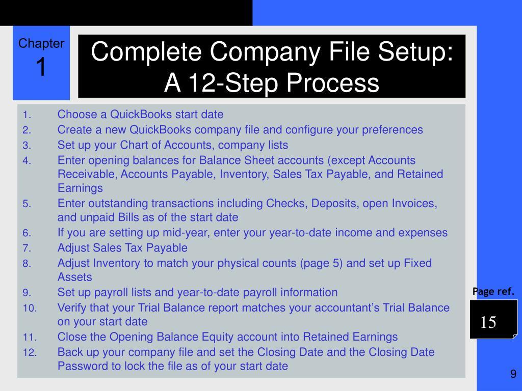 Complete Company File Setup: A 12-Step Process