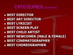 categories continued