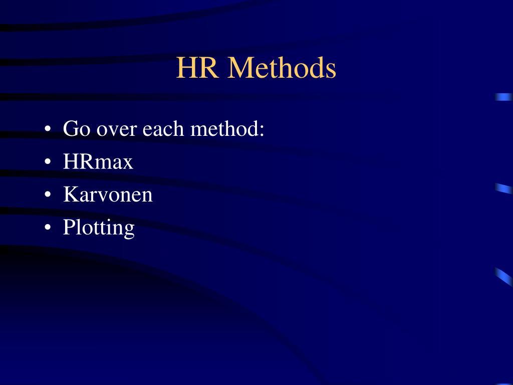 HR Methods