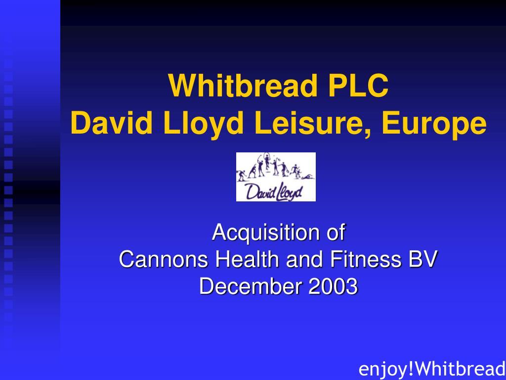 whitbread plc david lloyd leisure europe