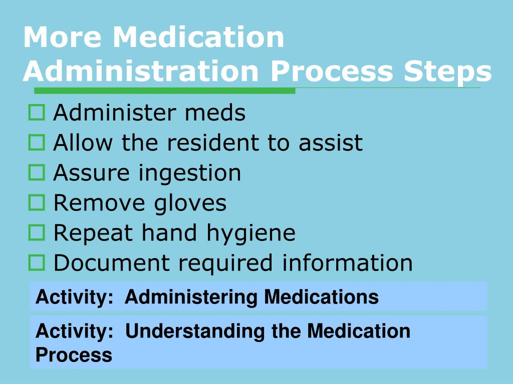 More Medication Administration Process Steps