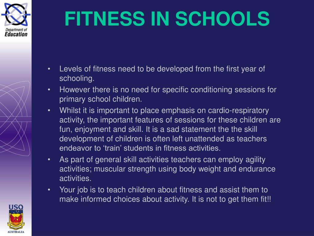 FITNESS IN SCHOOLS
