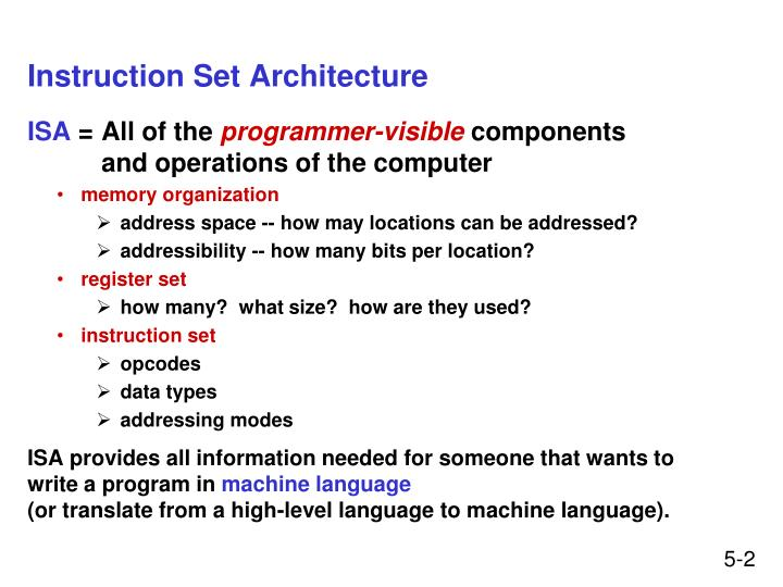 Instruction set architecture l.jpg