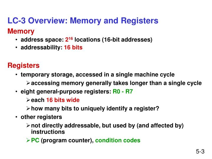 Lc 3 overview memory and registers l.jpg