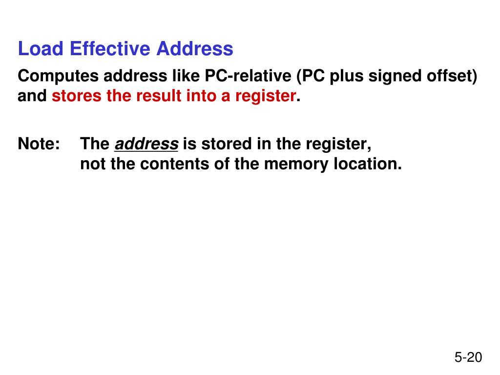 Load Effective Address