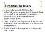 elimination des dasri