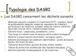 typologie des dasri