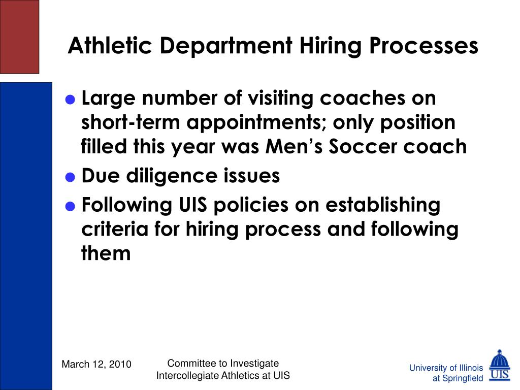 Athletic Department Hiring Processes