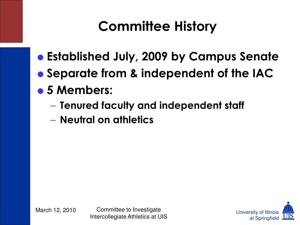 Committee History