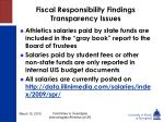fiscal responsibility findings transparency issues22