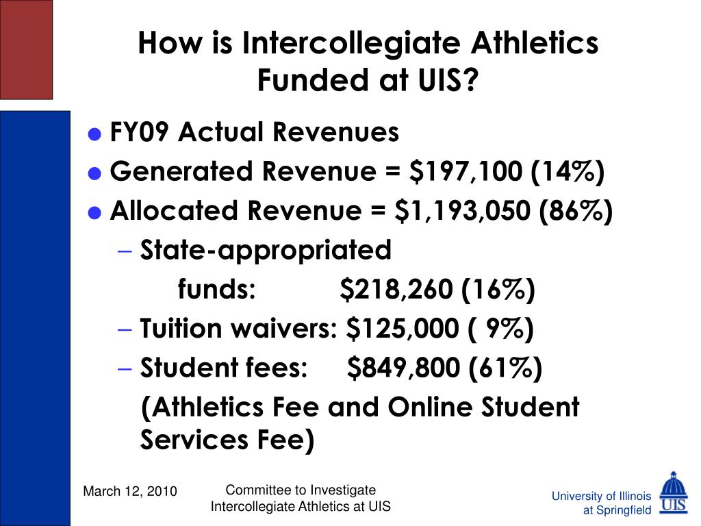 How is Intercollegiate Athletics Funded at UIS?