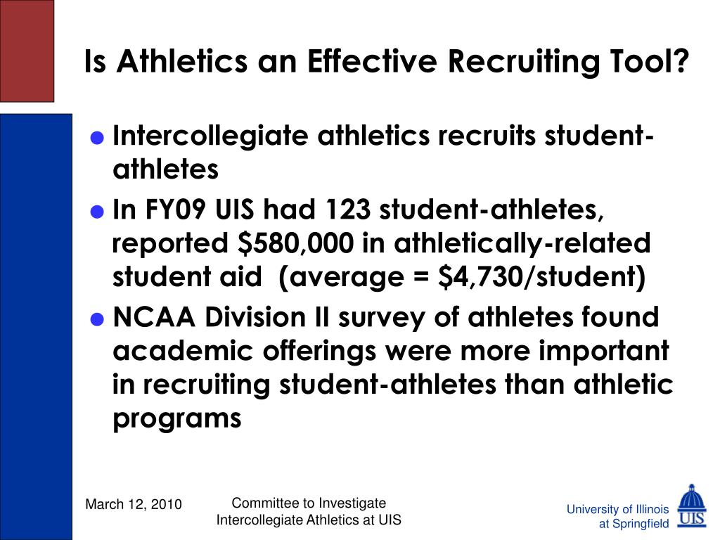 Is Athletics an Effective Recruiting Tool?