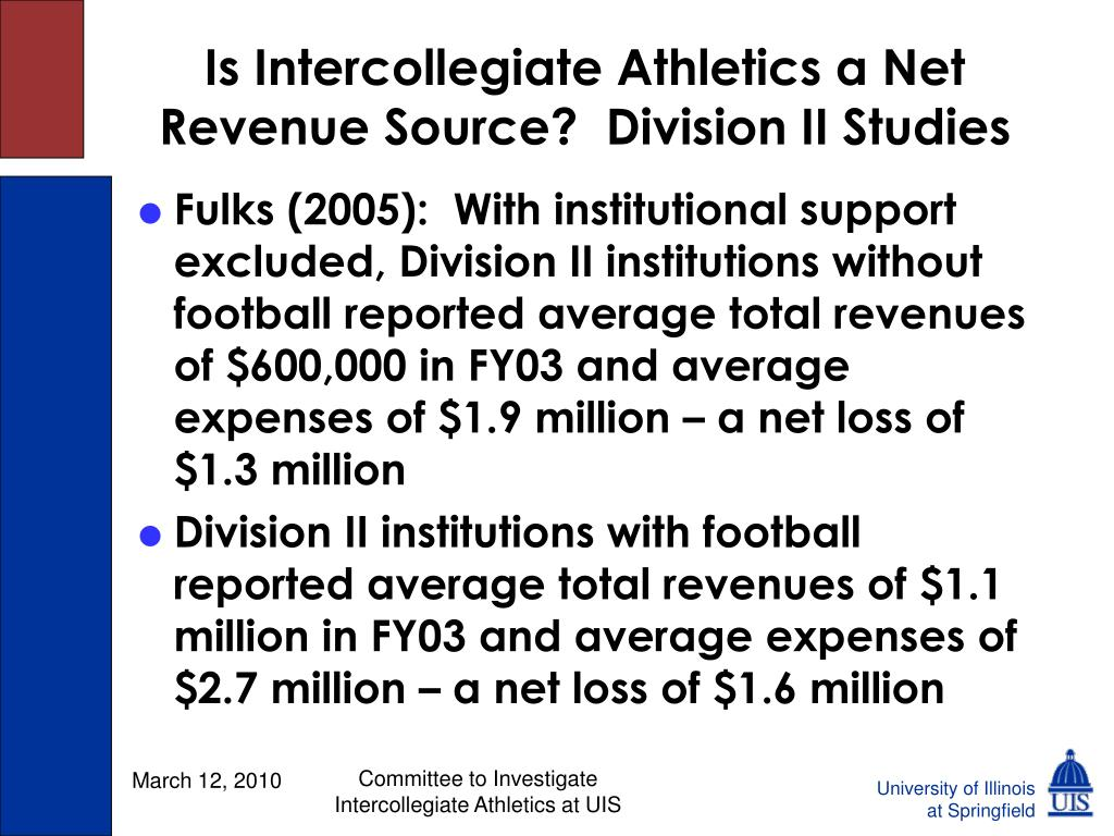 Is Intercollegiate Athletics a Net Revenue Source?  Division II Studies