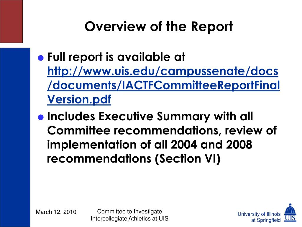 Overview of the Report