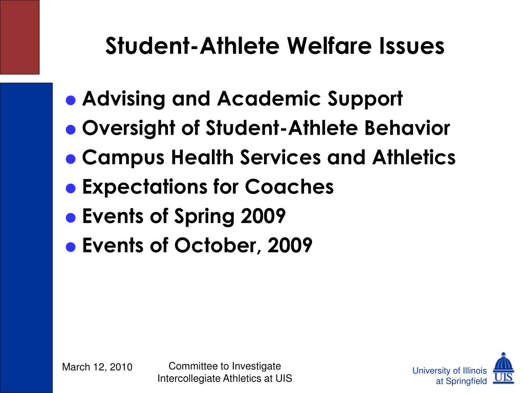 Student-Athlete Welfare Issues