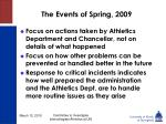 the events of spring 2009