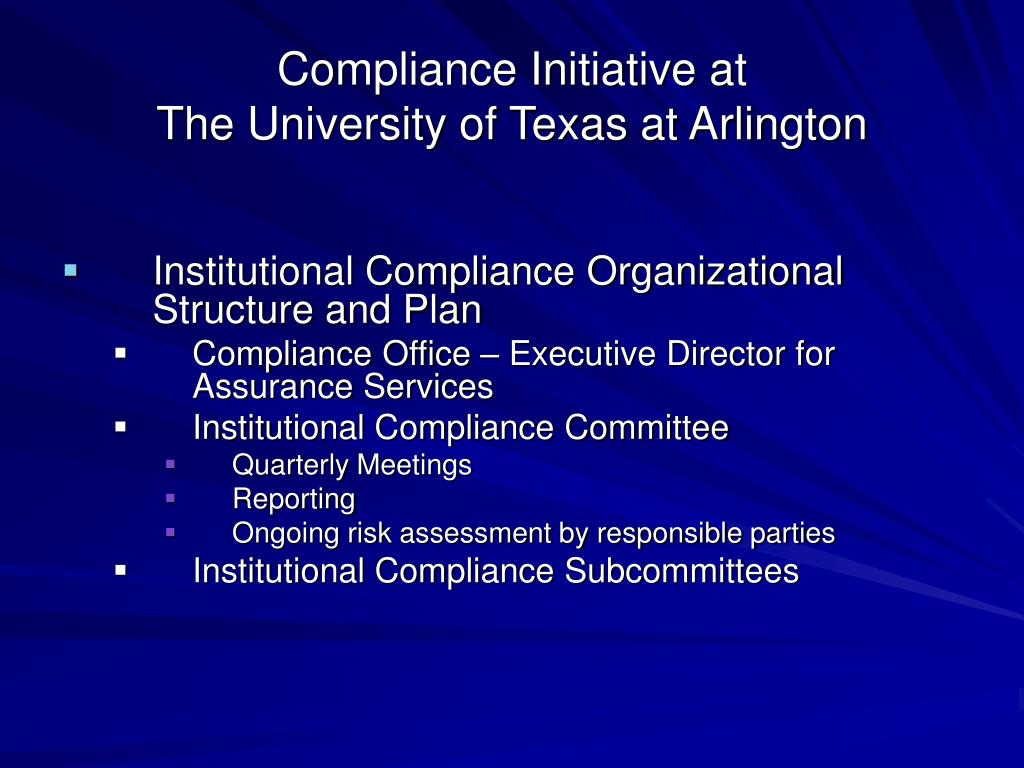 Compliance Initiative at