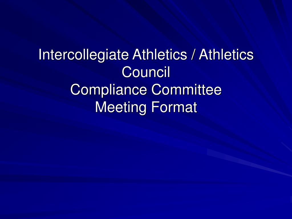 Intercollegiate Athletics / Athletics Council
