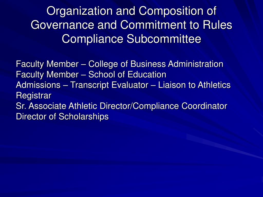 Organization and Composition of