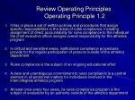 review operating principles operating principle 1 238