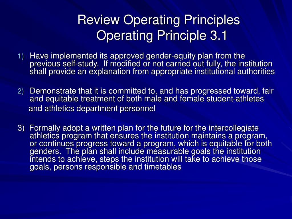 Review Operating Principles