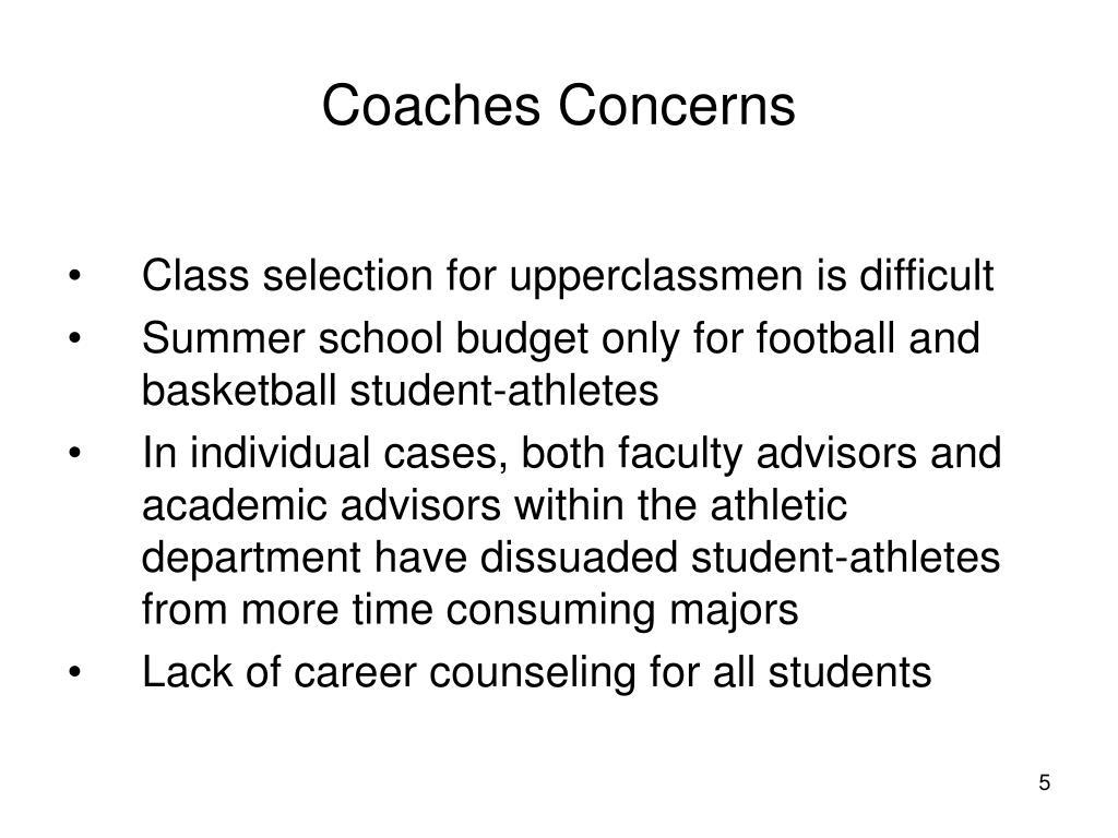 Coaches Concerns