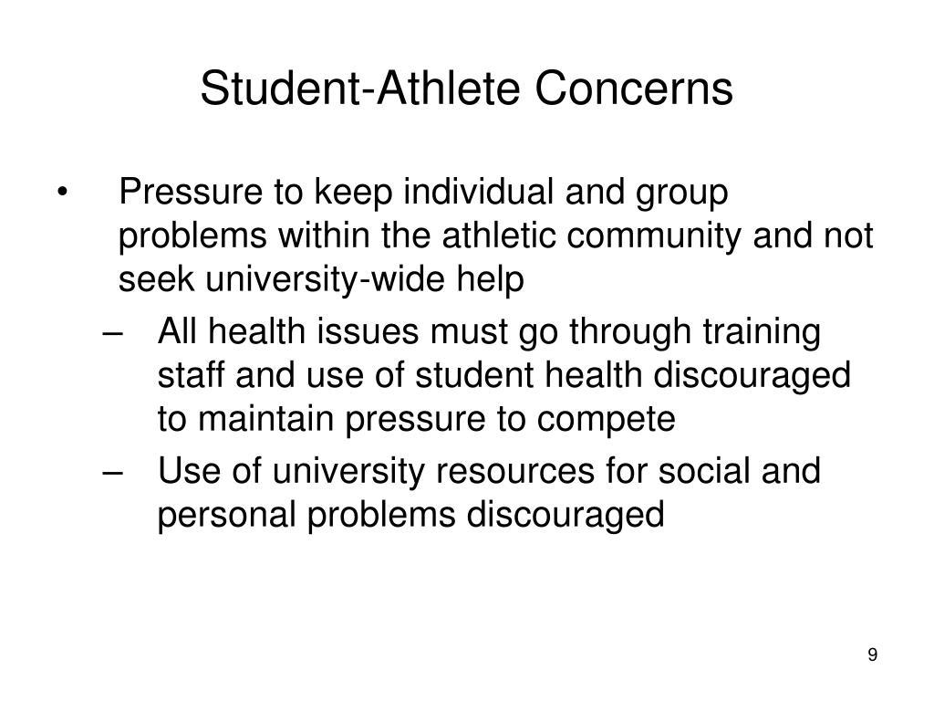 Student-Athlete Concerns