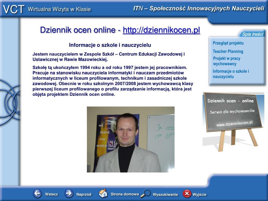Informacje o szkole i nauczycielu