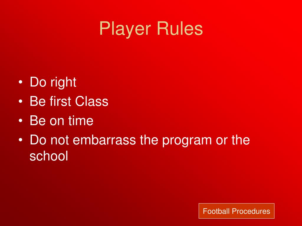 Player Rules