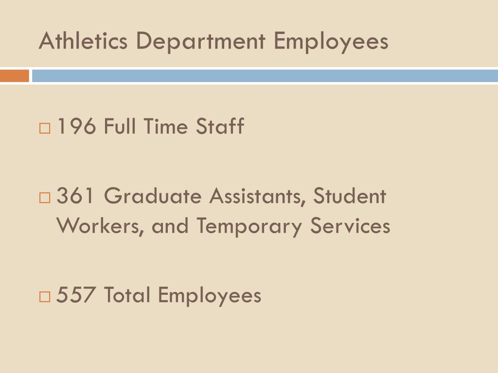 Athletics Department Employees