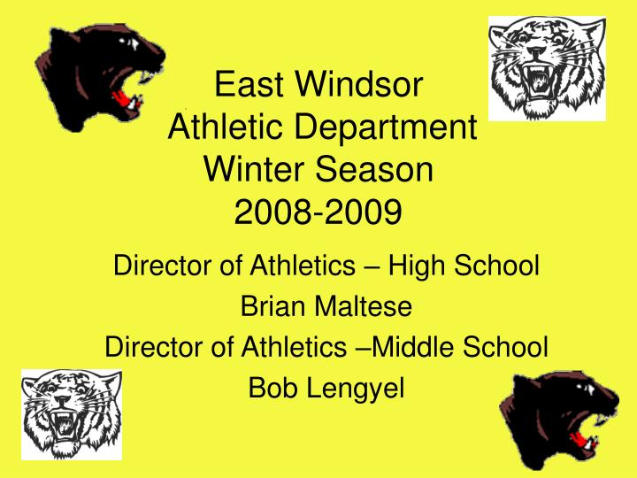 East windsor athletic department winter season 2008 2009