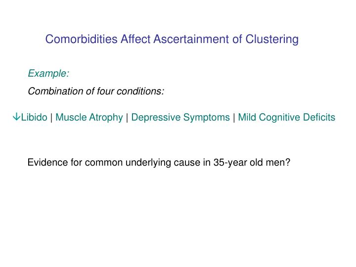 Comorbidities Affect Ascertainment of Clustering
